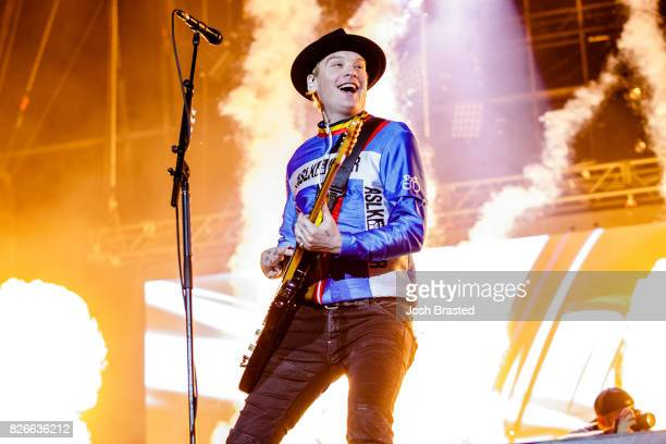 Matt Skiba of Blink 182 performs at Lollapalooza 2017 at Grant Park on August 4 2017 in Chicago Illinois