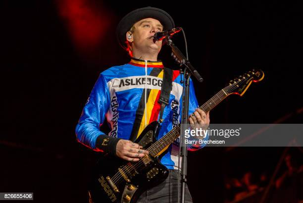 Matt Skiba of Blink 182 performs during the 2017 Lollapalooza Day One at Grant Park on August 4 2017 in Chicago Illinois