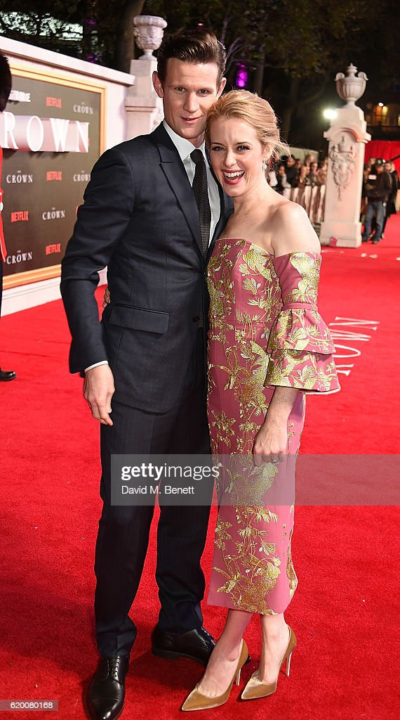 Matt Smith and Claire Foy attend the World Premiere of new Netflix Original series 'The Crown' at Odeon Leicester Square on November 1, 2016 in London, England.