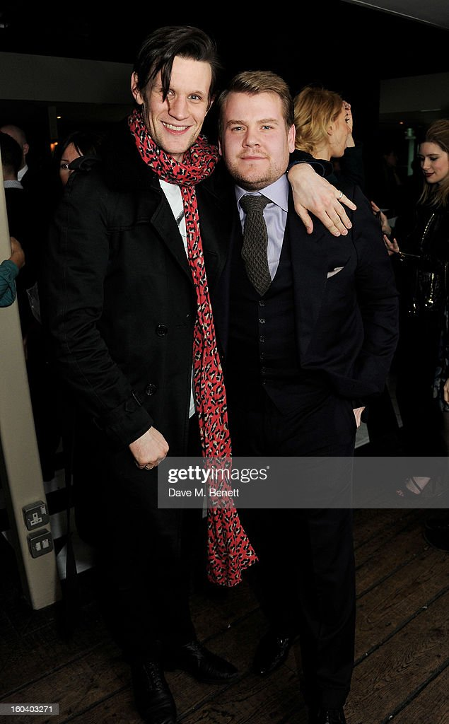 Matt Smith (L) and James Corden attend the InStyle Best Of British Talent party in association with Lancome and Avenue 32 at Shoreditch House on January 30, 2013 in London, England.