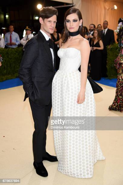Matt Smith and Lily James attend the 'Rei Kawakubo/Comme des Garcons Art Of The InBetween' Costume Institute Gala at Metropolitan Museum of Art on...