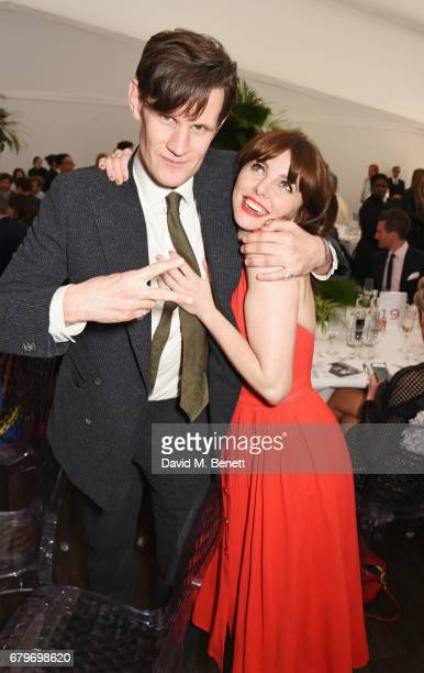 Matt Smith and Ophelia Lovibond attend the Audi Polo Challenge at Coworth Park on May 6 2017 in Ascot United Kingdom