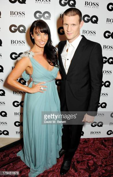 Matt Smith and sister Laura Jayne Smith arrive at the GQ Men of the Year awards at The Royal Opera House on September 3 2013 in London England