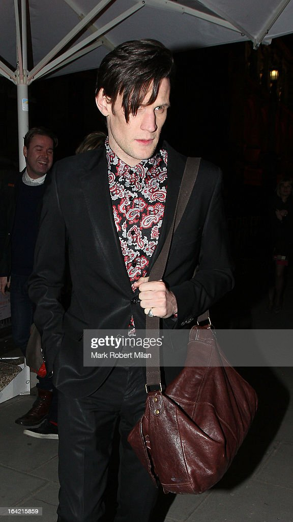 Matt Smith at the private view of 'David Bowie Is' at Victoria & Albert Museum on March 20, 2013 in London, England.