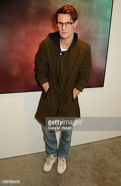 Matt Smith attends a private view of 'Photographs Of Films' by artist Jason Shulman at The Cob Gallery on May 11 2016 in London England