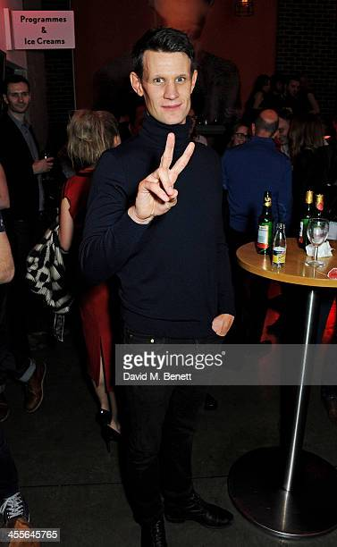 Matt Smith attends an after party celebrating the press night performance of 'American Psycho' at The Almeida Theatre on December 12 2013 in London...