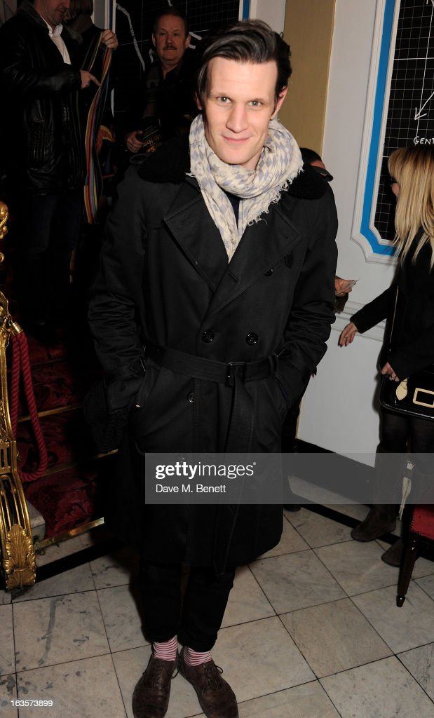 <a gi-track='captionPersonalityLinkClicked' href=/galleries/search?phrase=Matt+Smith+-+Actor&family=editorial&specificpeople=6877373 ng-click='$event.stopPropagation()'>Matt Smith</a> attends an after party celebrating the press night performance of 'The Curious Incident of the Dog in the Night-Time' at Century on March 12, 2013 in London, England.