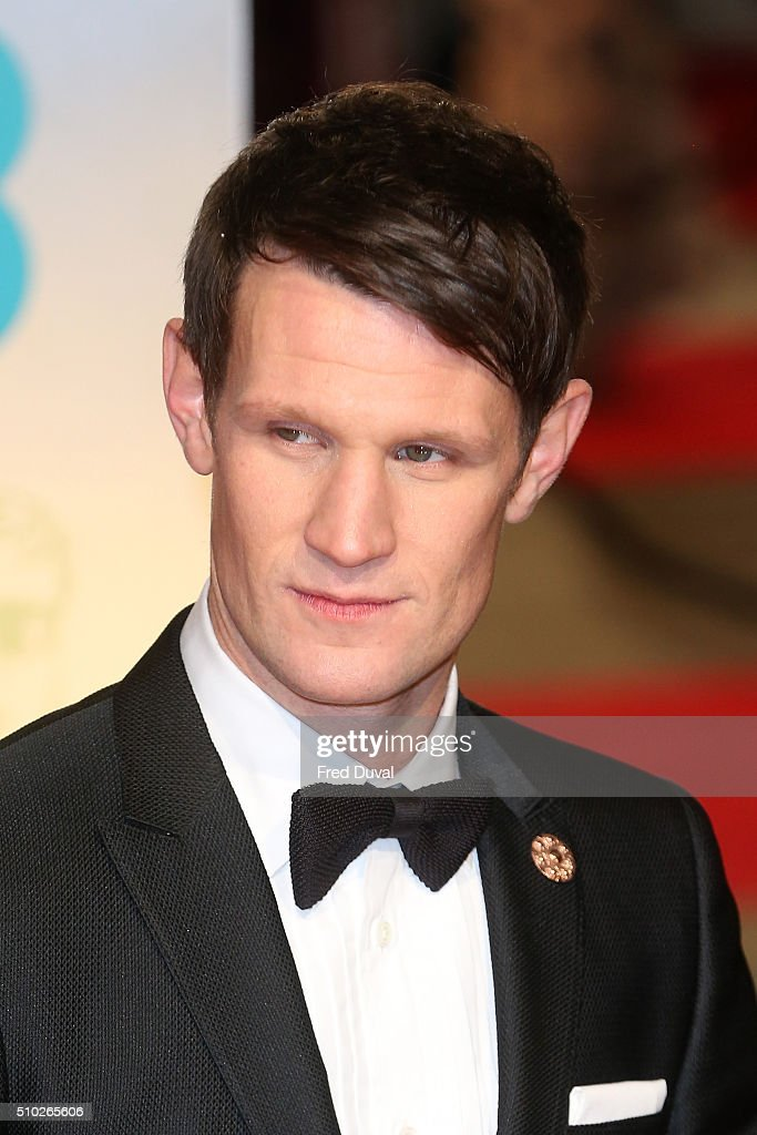 Matt Smith attends the EE British Academy Film Awards at The Royal Opera House on February 14, 2016 in London, England.