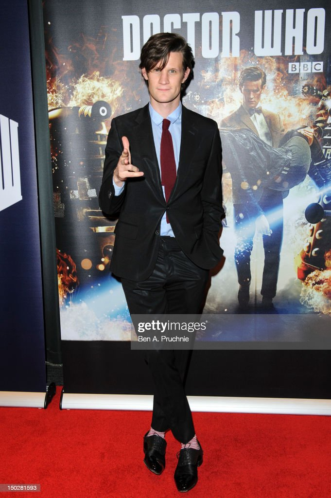 <a gi-track='captionPersonalityLinkClicked' href=/galleries/search?phrase=Matt+Smith+-+Actor&family=editorial&specificpeople=6877373 ng-click='$event.stopPropagation()'>Matt Smith</a> attends the preview screening of the first episode of the new series of Dr Who at BFI Southbank on August 14, 2012 in London, England.