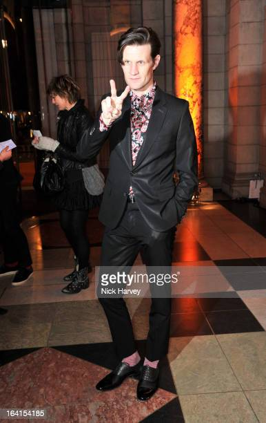 Matt Smith attends the private view of the 'David Bowie Is' exhibition at the Victoria And Albert Museum at Victoria Albert Museum on March 20 2013...