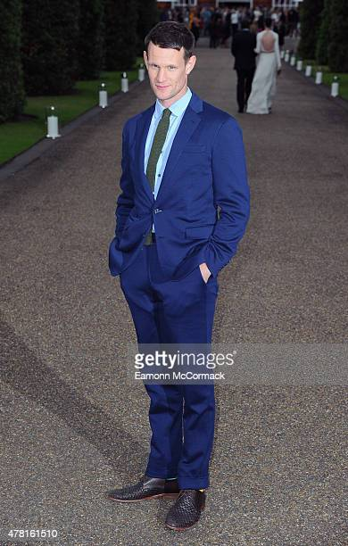 Matt Smith attends the Vogue and Ralph Lauren Wimbledon party at The Orangery on June 22 2015 in London England
