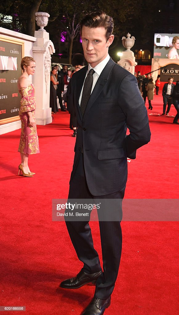 Matt Smith attends the World Premiere of new Netflix Original series 'The Crown' at Odeon Leicester Square on November 1, 2016 in London, England.
