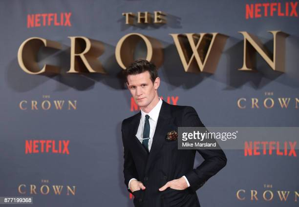 Matt Smith attends the World Premiere of season 2 of Netflix 'The Crown' at Odeon Leicester Square on November 21 2017 in London England