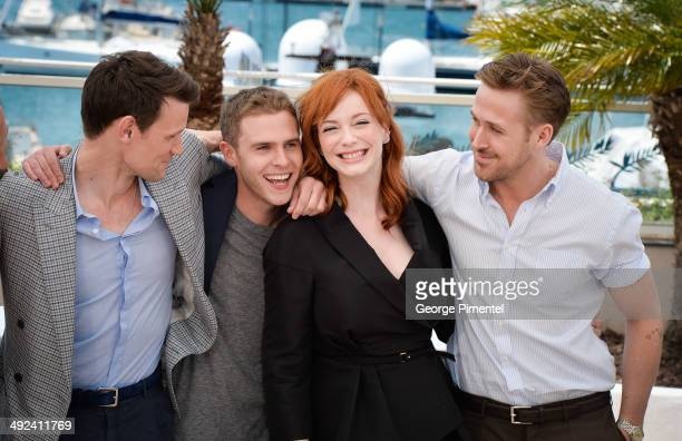 Matt Smith Iain De Caestecker Christina Hendricks and director Ryan Gosling attend the 'Lost River' photocall during the 67th Annual Cannes Film...