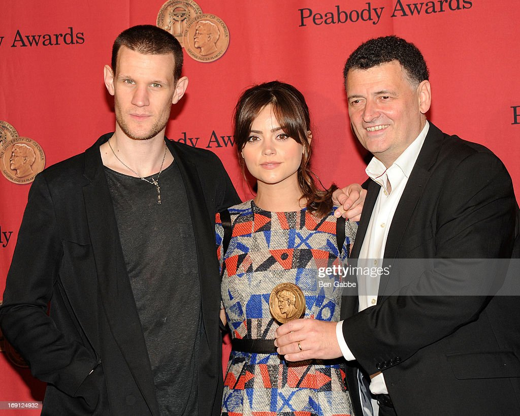 Matt Smith, Jenna Coleman and Steven Moffat attend 72nd Annual George Foster Peabody Awards at The Waldorf=Astoria on May 20, 2013 in New York City.