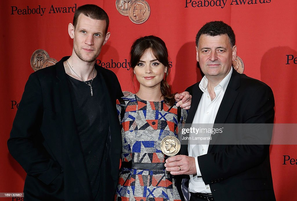 <a gi-track='captionPersonalityLinkClicked' href=/galleries/search?phrase=Matt+Smith+-+Actor&family=editorial&specificpeople=6877373 ng-click='$event.stopPropagation()'>Matt Smith</a>, Jenna Coleman and Steven Moffat attend 72nd Annual George Foster Peabody Awards at The Waldorf=Astoria on May 20, 2013 in New York City.