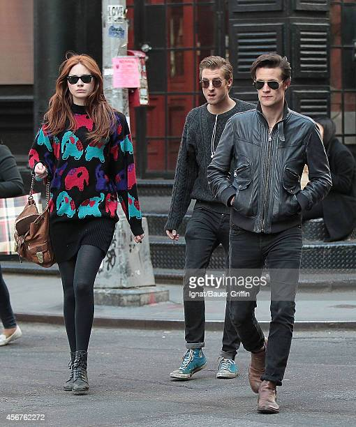 Matt Smith Karen Gillan and Arthur Darvil are seen on April 13 2012 in New York City