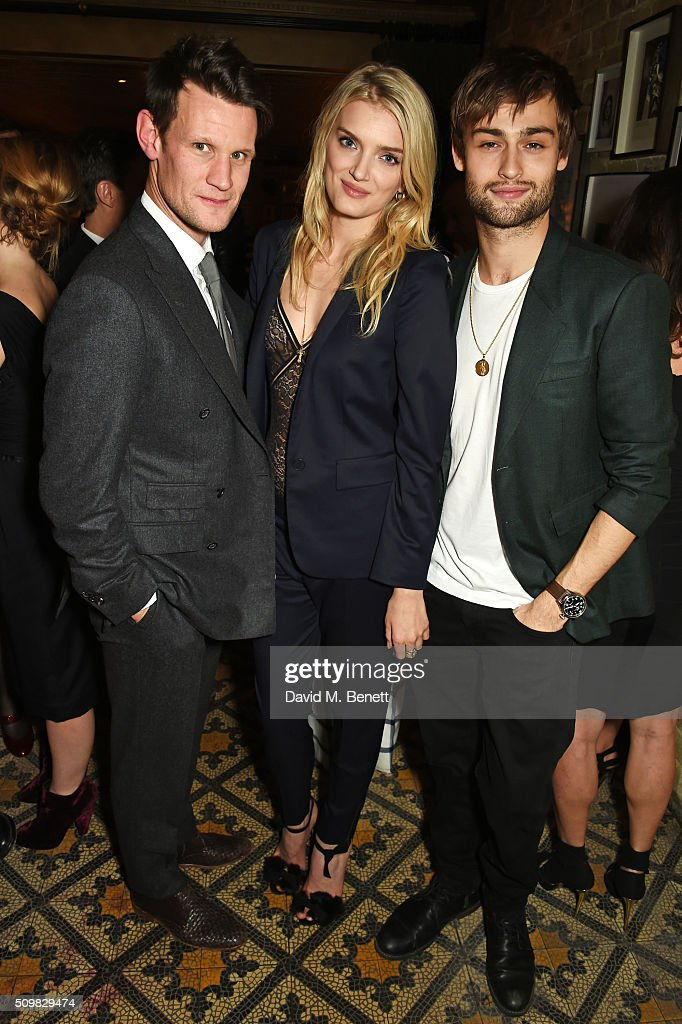 Matt Smith, <a gi-track='captionPersonalityLinkClicked' href=/galleries/search?phrase=Lily+Donaldson&family=editorial&specificpeople=469694 ng-click='$event.stopPropagation()'>Lily Donaldson</a> and <a gi-track='captionPersonalityLinkClicked' href=/galleries/search?phrase=Douglas+Booth&family=editorial&specificpeople=6324411 ng-click='$event.stopPropagation()'>Douglas Booth</a> attend Harvey Weinstein's pre-BAFTA dinner in partnership with Burberry and GREY GOOSE at Little House Mayfair on February 12, 2016 in London, England.