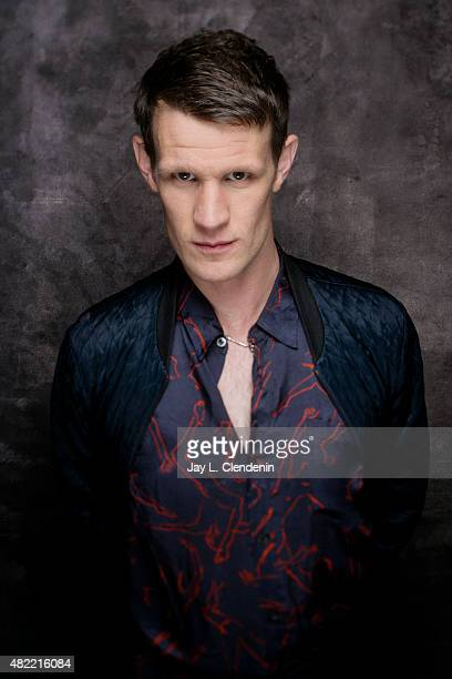 Matt Smith of Pride and 'Prejudice and Zombies' poses for a portrait at ComicCon International 2015 for Los Angeles Times on July 9 2015 in San Diego...