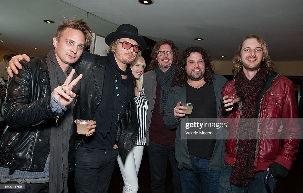 Matt Sorum and 28 North attends The Morrison Hotel Gallery Opens At The Sunset Marquis In West Hollywood on February 7, 2013 in West Hollywood, California.