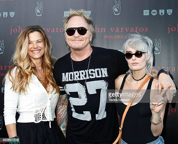 Matt Sorum and Ace Harper attend John Varvatos International Day of Peace with Ringo Starr at John Varvatos Boutique on September 21 2014 in West...