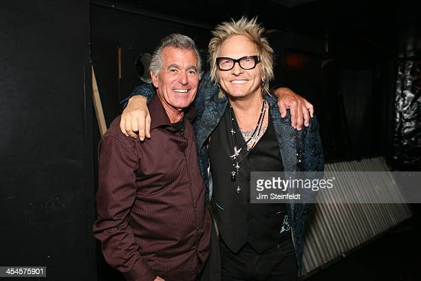 Matt Sorum and his high school music teacher at the Kings of Chaos benefit concert for Ric O'Barry's Dolphin Project at the Avalon in Hollywood...