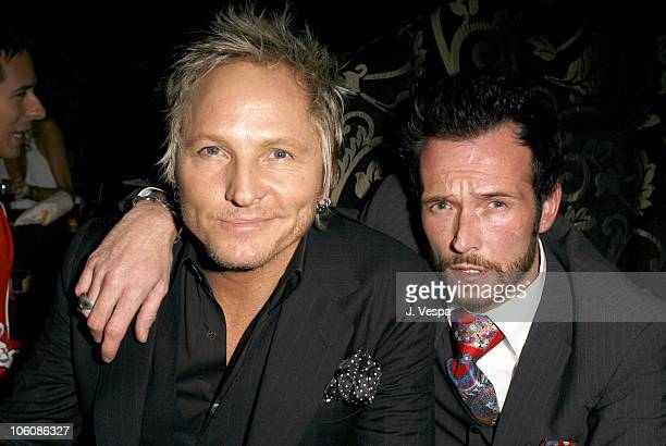 Matt Sorum and Scott Weiland during Flaunt Magazine Presents Nefarious Fine Jewelry Hosted by Velvet Revolver at Black Steel Restaurant in Hollywood...