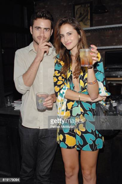 Matt Spicer Dakota Solt attend The Supper Club Shepard Fairey's SNO host a Bombay Sapphire Tea Party at The Tea Room on July 20 2010 in Hollywood...