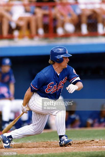 Matt Stairs of the Montreal Expos swings at the pitch during a spring training game circa 1992