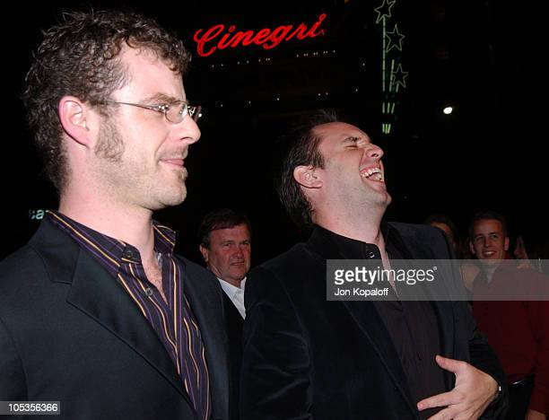 Matt Stone and Trey Parker during 'Team America World Police' Los Angeles Premiere at Grauman's Chinese Theater in Los Angeles California United...