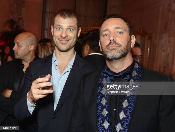 Matt Stone and Trey Parker of Book of Mormon attend 66th Annual Tony Awards after party at The Plaza Hotel on June 10 2012 in New York City