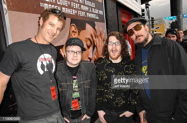 Matt Stone Patrick Stump Andy Hurley and Les Claypool
