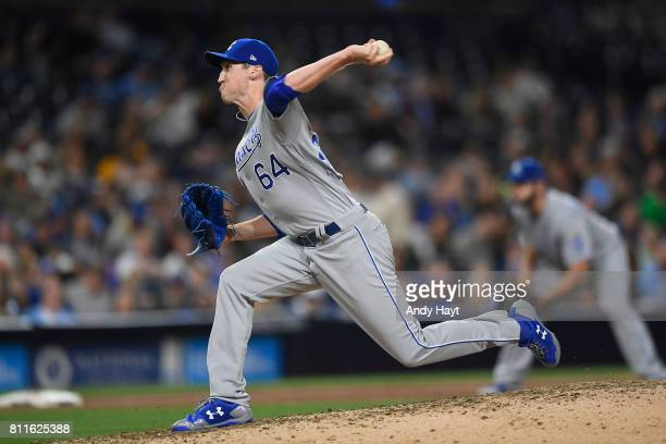 Matt Strahm of the Kansas City Royals pitches during the game against the San Diego Padres at PETCO Park on June 9 2017 in San Diego California