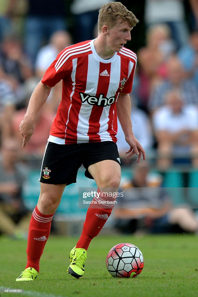 Matt Targett runs with the ball during the friendly match between KVV Quick 1920 and FC Southampton at Sportpark De Vondersweijde on July 21, 2015 in Oldenzaal, Netherlands.