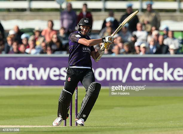 Matt Taylor of Gloucester in action during the Natwest T20 blast match between Sussex and Gloucestershire at BrightonandHoveJobscom County Ground on...