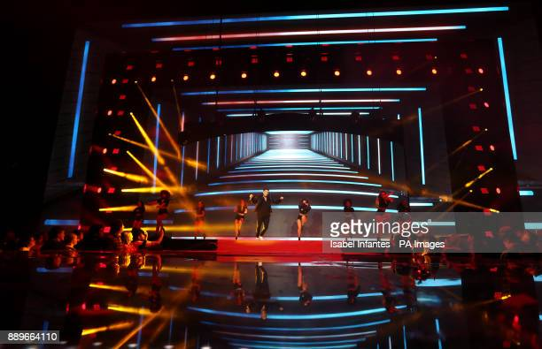 Matt Terry performs on stage during day two of Capital's Jingle Bell Ball with CocaCola at London's O2 Arena