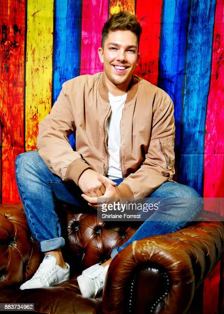 Matt Terry poses backstage after performing live and signing copies of his debut album 'Trouble' for fans at HMV Manchester on November 29 2017 in...