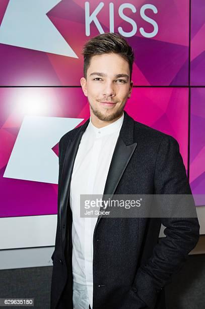Matt Terry visits at Kiss FM Studio's on December 14 2016 in London England