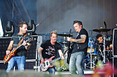 Matt Thomas Barry Knox Josh McSwain and Scott Thomas of Parmalee perform on Day 2 of Country Thunder Wisconsin on July 22 2016 in Twin Lakes Wisconsin