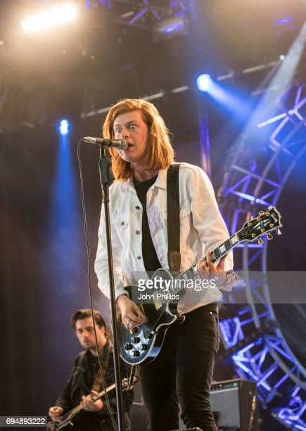 Matt Thomson from the Amazons performs on day 4 of The Isle of Wight festival at Seaclose Park on June 11 2017 in Newport Isle of Wight