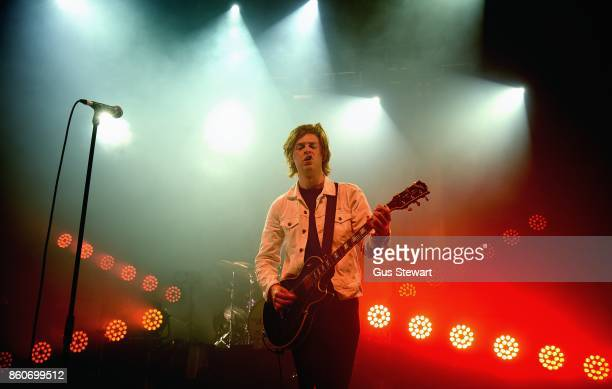 Matt Thomson of The Amazons performs on stage at The Forum on October 12 2017 in London England