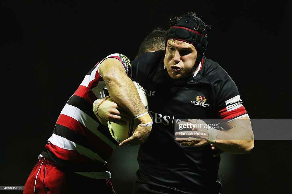 <a gi-track='captionPersonalityLinkClicked' href=/galleries/search?phrase=Matt+Todd&family=editorial&specificpeople=5870233 ng-click='$event.stopPropagation()'>Matt Todd</a> of Canterbury charges forward during the round six ITM Cup match between Counties Manukau and Canterbury at ECOLight Stadium on September 19, 2014 in Pukekohe, New Zealand.