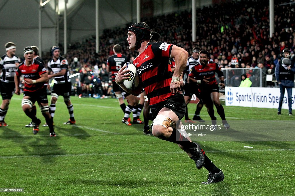 <a gi-track='captionPersonalityLinkClicked' href=/galleries/search?phrase=Matt+Todd&family=editorial&specificpeople=5870233 ng-click='$event.stopPropagation()'>Matt Todd</a> of Canterbury runs in to score a try during the round five ITM Cup match between Canterbury and Hawkes Bay at AMI Stadium on September 12, 2015 in Christchurch, New Zealand.