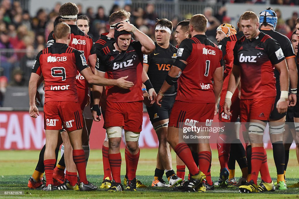 <a gi-track='captionPersonalityLinkClicked' href=/galleries/search?phrase=Matt+Todd&family=editorial&specificpeople=5870233 ng-click='$event.stopPropagation()'>Matt Todd</a> of the Crusaders looks dejected following a fight during the round eight Super Rugby match between the Crusaders and the Jaguares at AMI Stadium on April 15, 2016 in Christchurch, New Zealand.