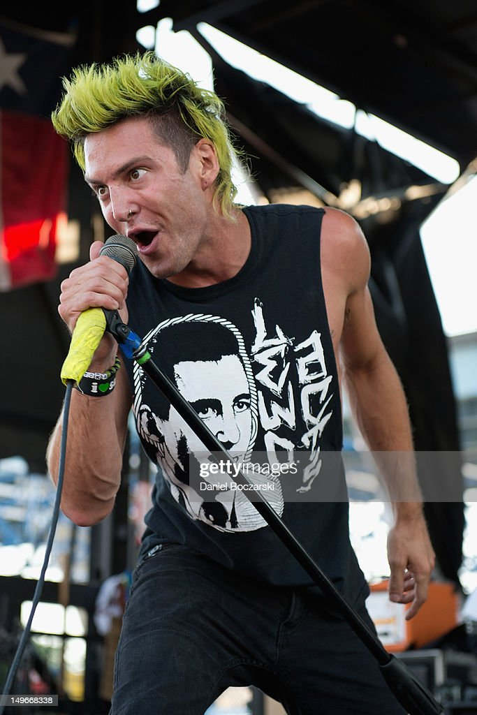 Matt Toka performs on stage during Warped Tour at Marcus Amphitheatre on August 1, 2012 in Milwaukee, United States.