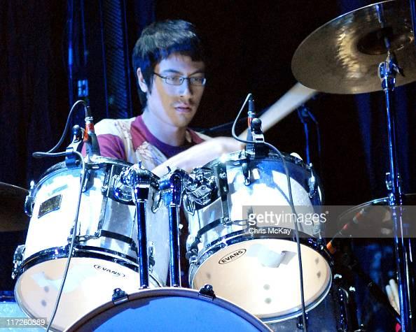 Matt Tong of Bloc Party during Bloc Party in Concert at HiFi Buys Amphitheatre in Atlanta November 9 2006 at HiFi Buys Amphitheatre in Atlanta...