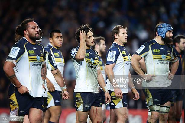 Matt Toomua of the Brumbies looks dejected after the final Waratahs try during the Super Rugby Semi Final match between the Waratahs and the Brumbies...