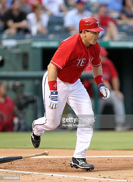 Matt Treanor of the Texas Rangers on July 23 2010 at Rangers Ballpark in Arlington Texas
