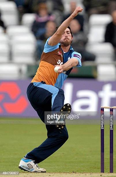 Matt Turner of Derbyshire Falcons during their Natwest T20 Blast between Yorkshire Vikings and Derbyshire Falcons at Headingley on May 30 2014 in...