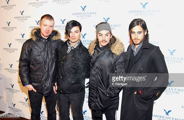 Matt Wachter Tomo Milicevic Shannon Leto and Jared Leto from 30 Seconds to Mars